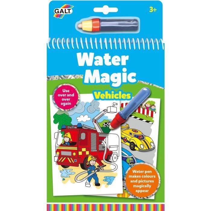 GALT Carnets de dessins Stylo magique - Water Magic Véhicules