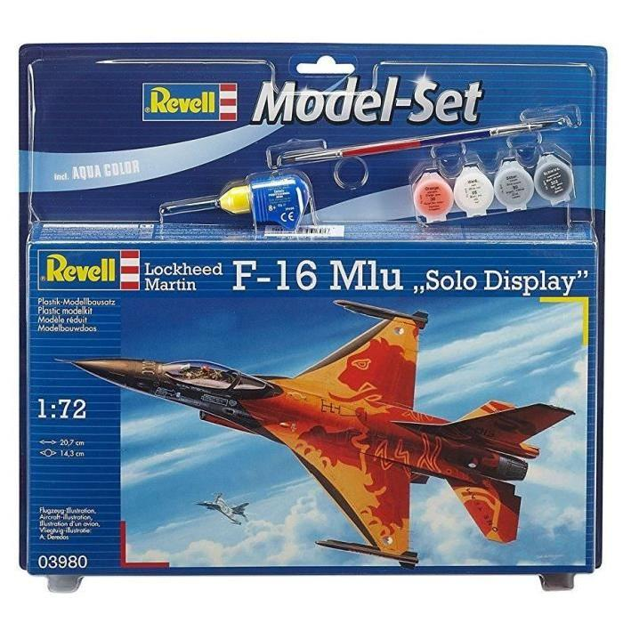 "REVELL Model-Set F-16 Mlu""Solo Display"" - Maquette"