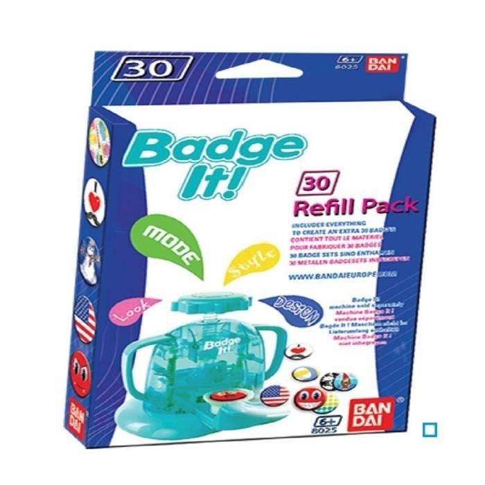 BANDAI 30 Recharges Badge It Badge Bleu