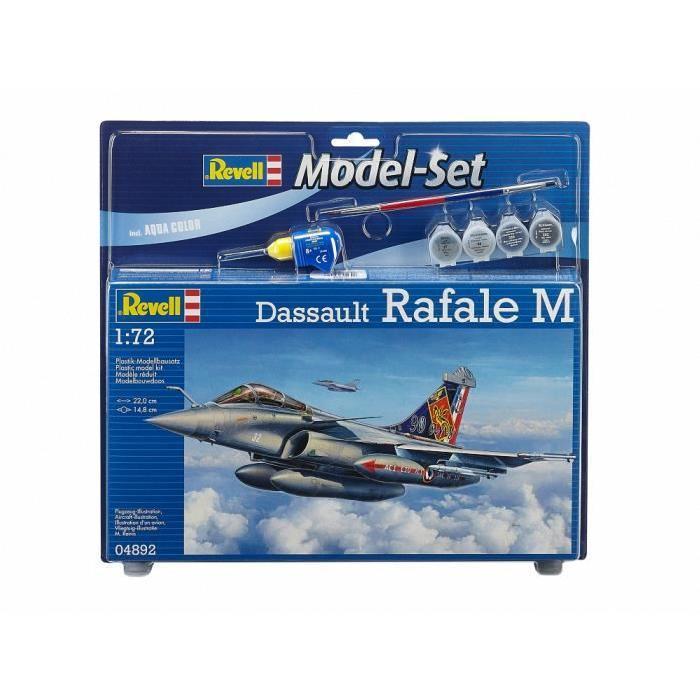 REVELL Model Set Dassault Rafale M Maquette a Construire, a Coller et a Peindre, Avec Accessoires
