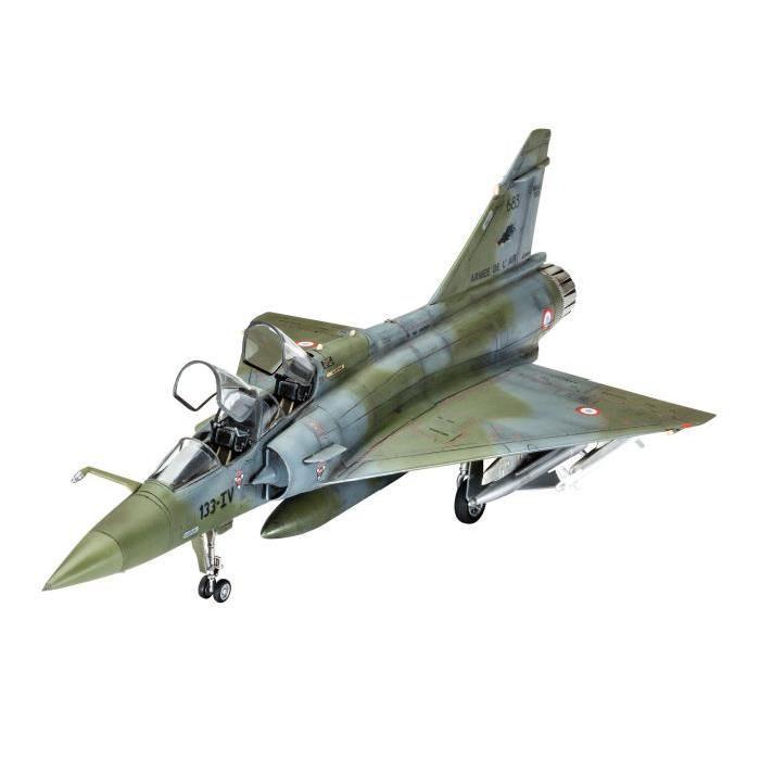 REVELL Model Set Mirage 2000D Maquette a Construire, a Coller et a Peindre, Avec Accessoires