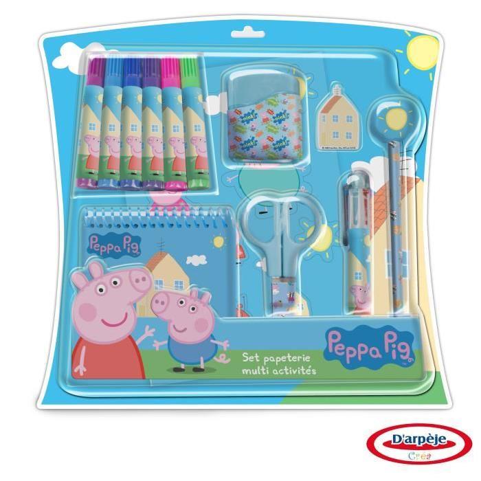 PEPPA PIG Set Papeterie Multi-Activités