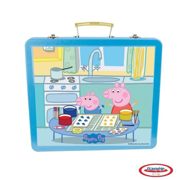 PEPPA PIG Ma Boîte Métallique Créative - 60 Pieces