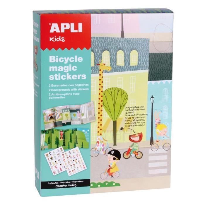 APLI Boite magic stickers - Vélos