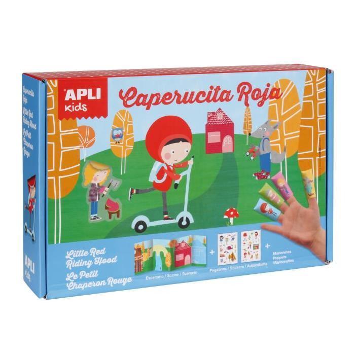 APLI Boite magic stickers - Le petit chaperon rouge
