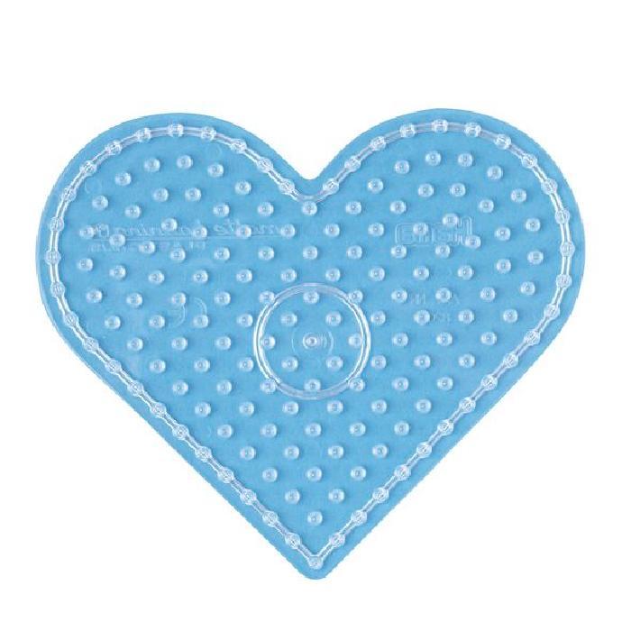 HAMA Plaque transparente coeur pour perles Maxi