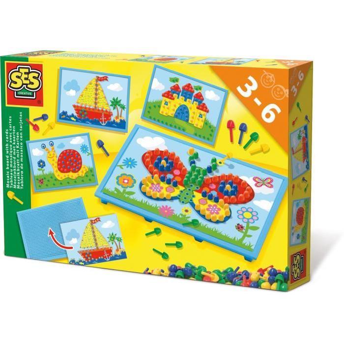 SES CREATIVE Tableau mosaique avec cartes