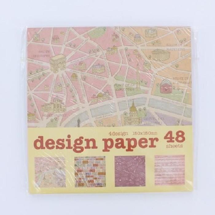 LA FOURMI Papier Origami - Dentelle - 48 Pieces