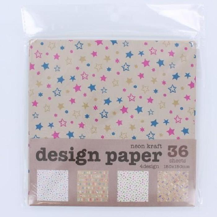 LA FOURMI Papier Origami - Vintage - 48 Pieces