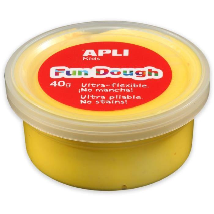 APLI Pâte a modeler Fun Dough - 40 g - Jaune