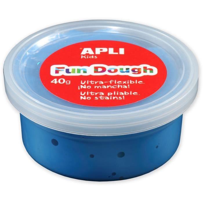 APLI Pâte a modeler Fun Dough - 40 g - Bleu