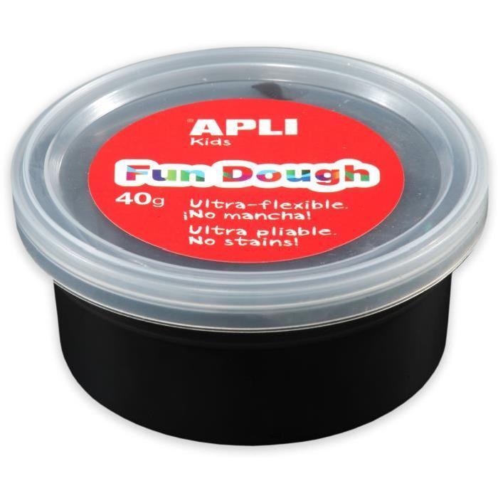 APLI Pâte a modeler Fun Dough - 40 g - Noir