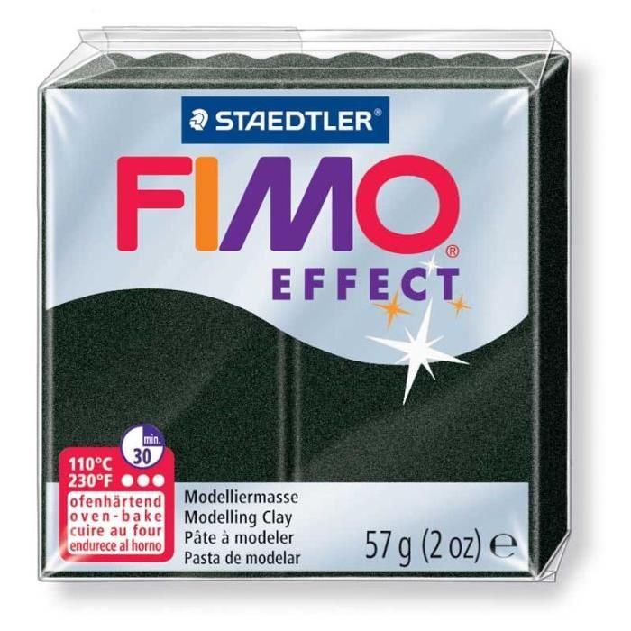 Fimo - Noir Perle - x 6 pain