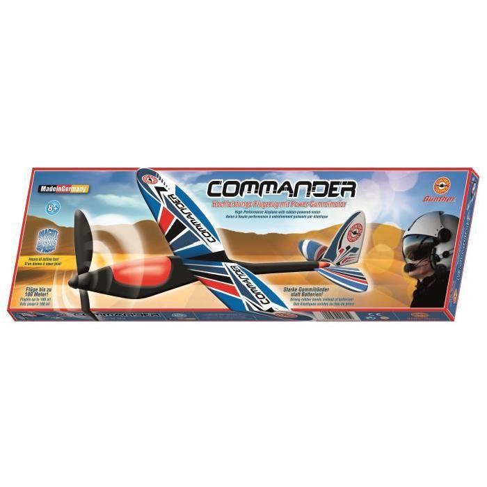 GUNTHER Avion Commander a moteur élastique