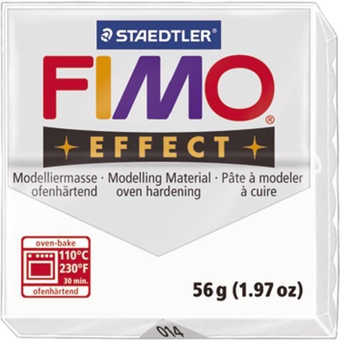STAEDTLER Pâte a modeler a cuire Fimo Effect bloc 56 g transparent