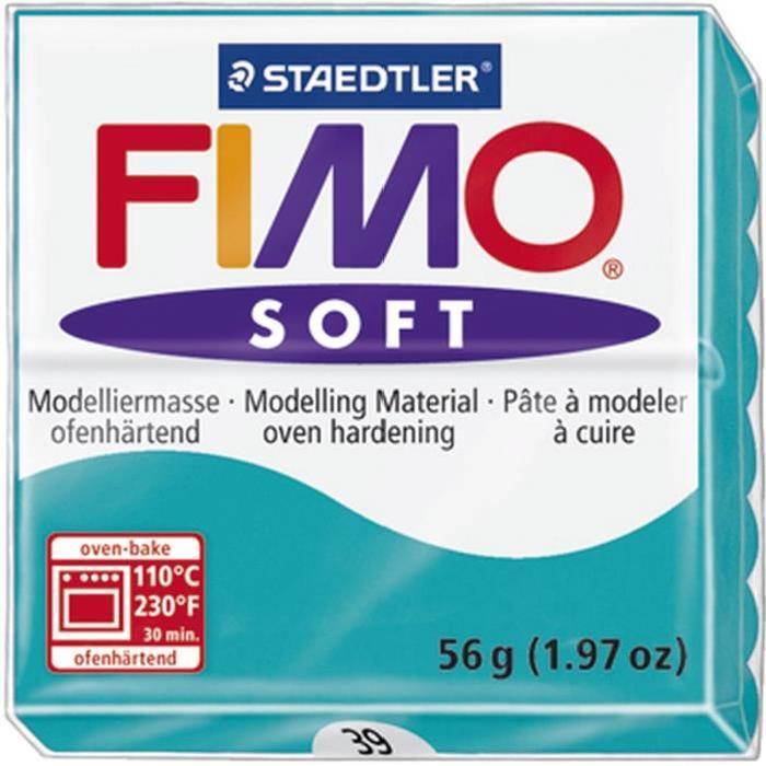 STAEDTLER Pâte a modeler a cuire Fimo Soft bloc 56 g menthe