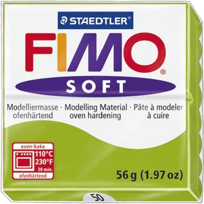 STAEDTLER Pâte a modeler a cuire Fimo Soft bloc 56 g vert pomme