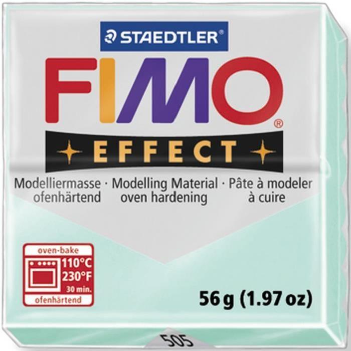STAEDTLER Pâte a modeler a cuire Fimo Effect bloc 56 g menthe
