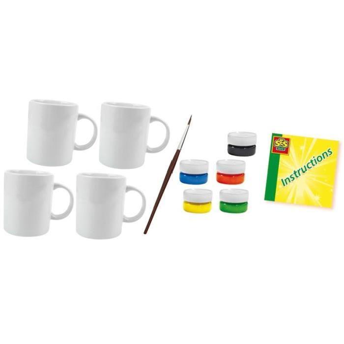 SES CREATIVE Kit de peinture pour tasses