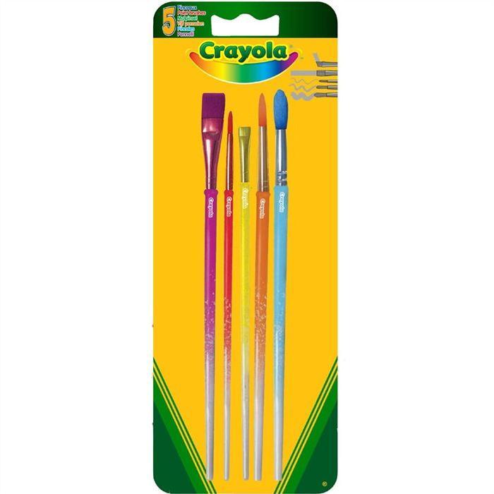 Crayola 5 pinceaux assortis