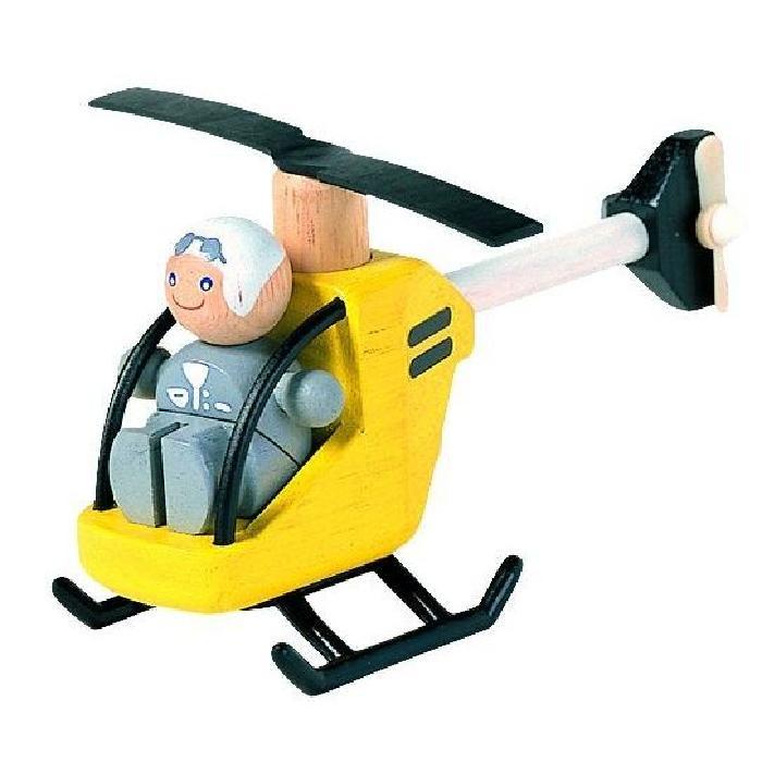 Hélicoptere en bois Avec Pilote