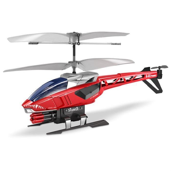 SILVERLIT Hélicoptere Télécommandé Heli Sniper - Rouge et Noir