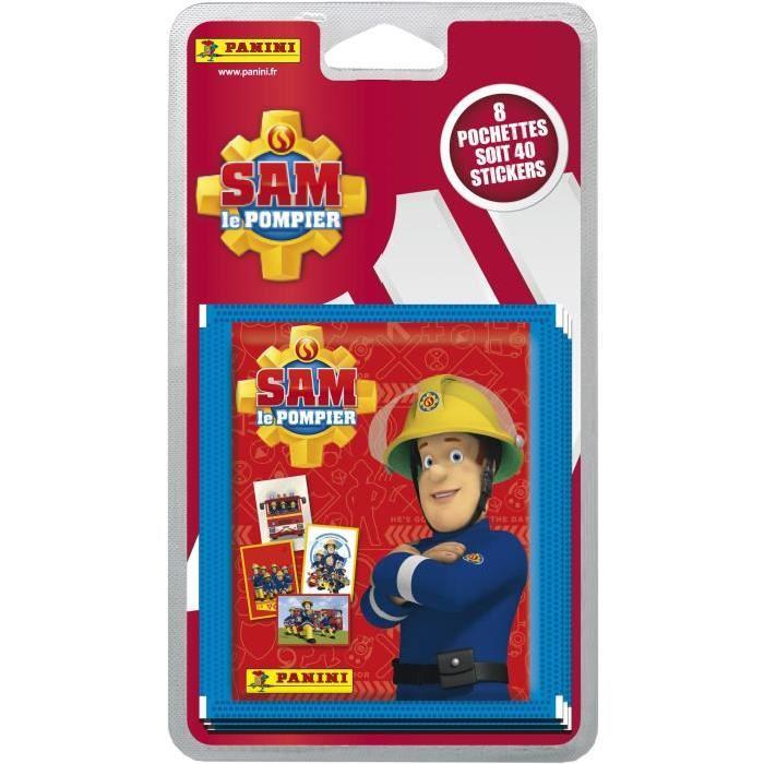 PANINI Blister de 8 pochettes de 5 stickers Sam Le Pompier
