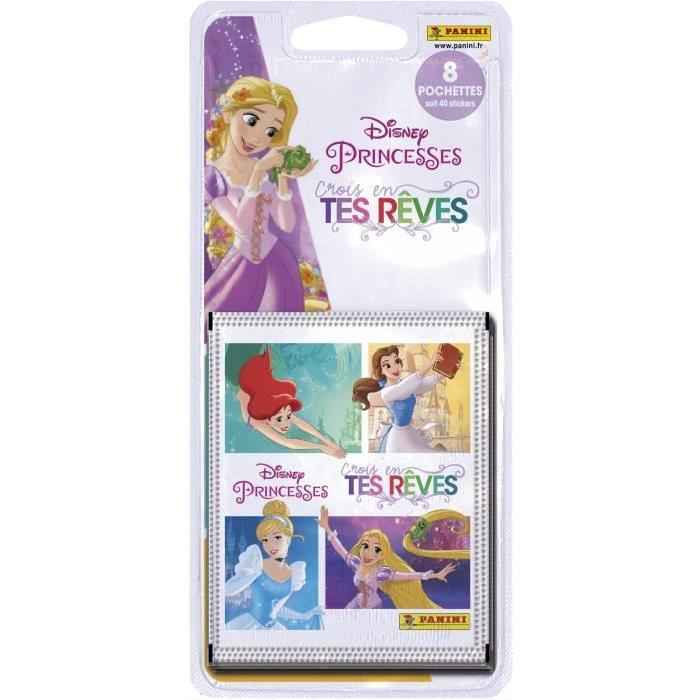 PANINI Blister de 8 pochettes de 5 stickers Pincesses Reves
