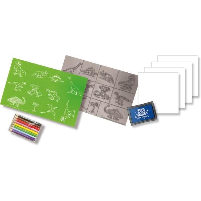 SES CREATIVE Kit de tampons dinosaures