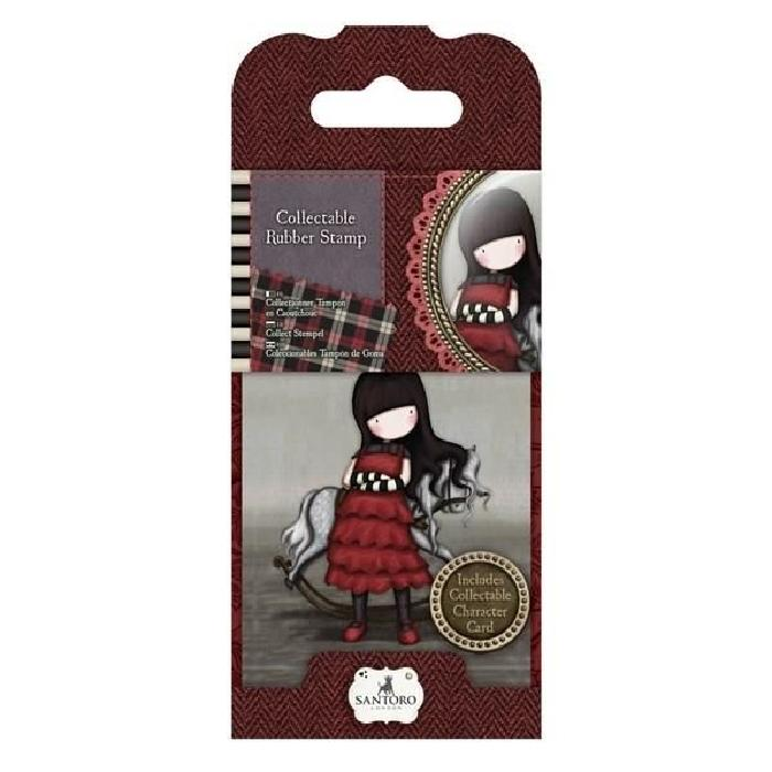 SANTORO Mini tampon en caoutchouc Poppy wood- Gorjuss