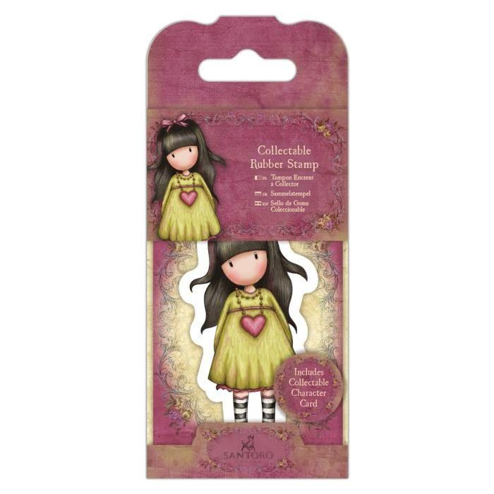 SANTORO Mini tampon cling Gorjuss - On your heart strings - N°22