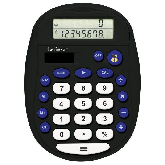 Lexibook - Calculatrice de bureau 8 chiffres avec convertisseur Euro