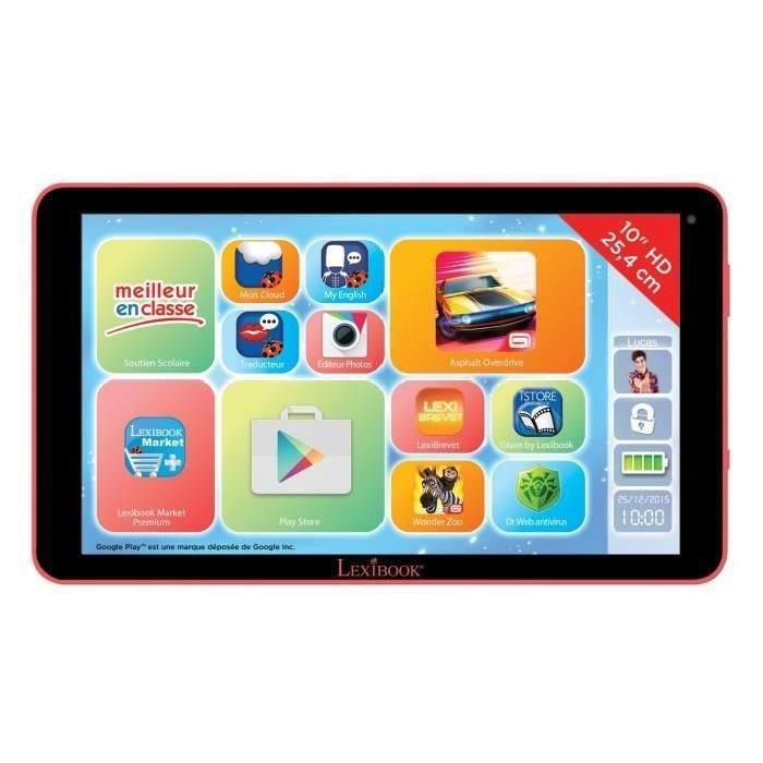 """LEXIBOOK Tablette Enfant Fluo XL Premium 10"""""""