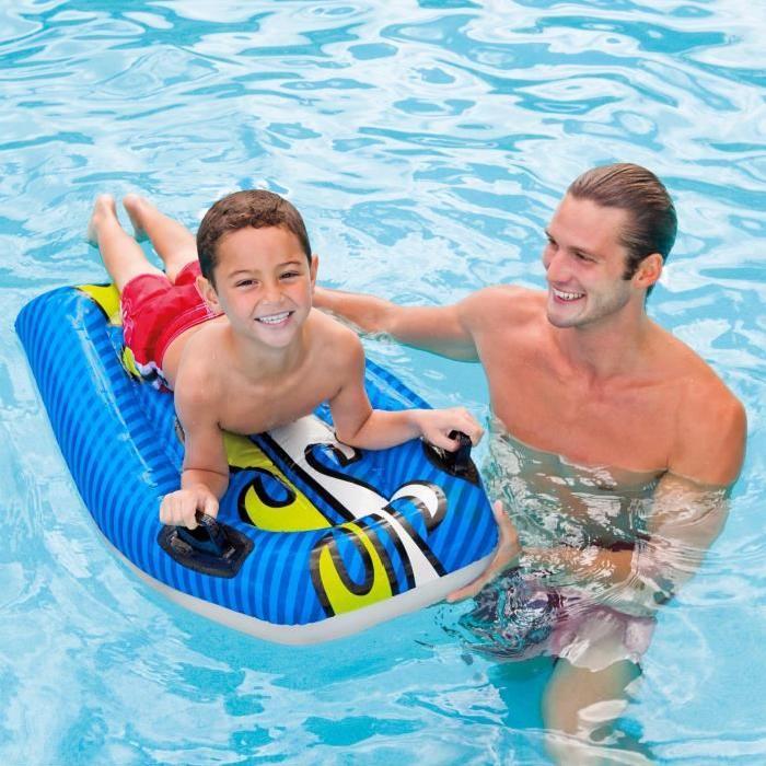 INTEX Planche de surf Bodyboard Gonflable enfant (couleur aléatoire)