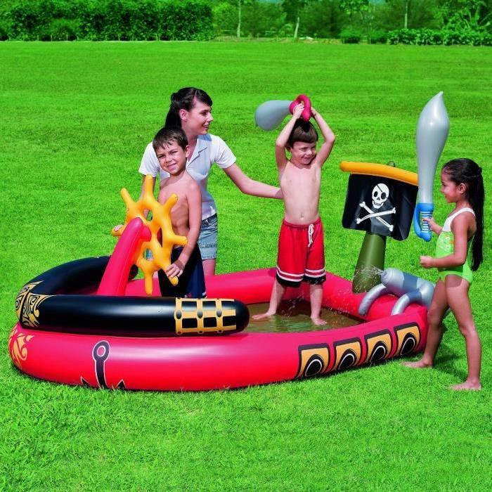 Aire de jeux aquatique pirate gonflable  - 191X140Xh96Cm