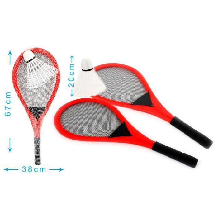 MGM Badminton géant avec 2 raquettes et 1 volant