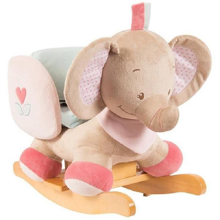 NATTOU Bascule Rose l'éléphant