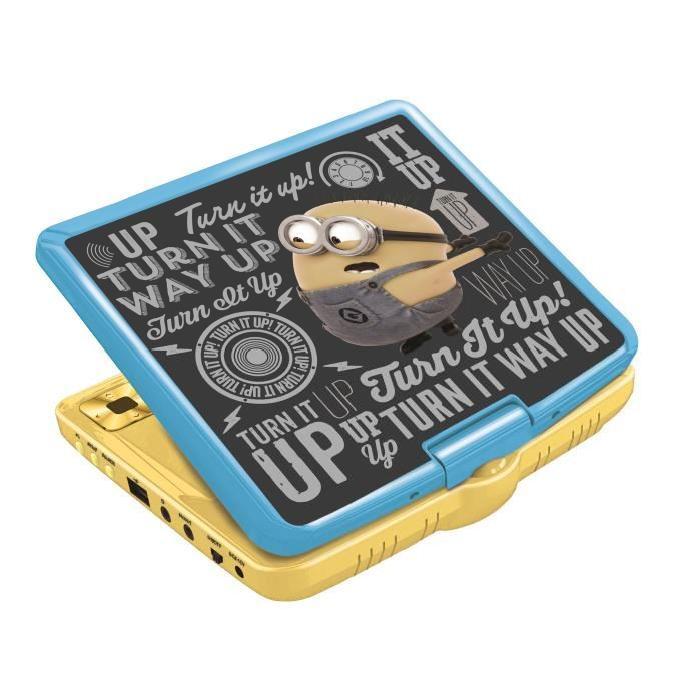 LES MINIONS Lecteur DVD portable Lexibook