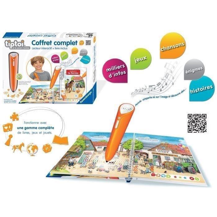 TIPTOI Coffret Complet Livre Interactif + Lecteur