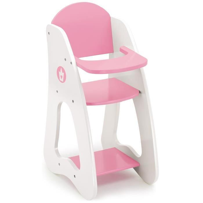 BAYER Chaise Haute Princesse Rose 32/22/53 Cm