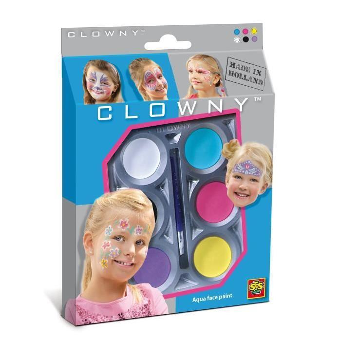 SES CREATIVE AQUA Maquillage  6 couleurs - Filles
