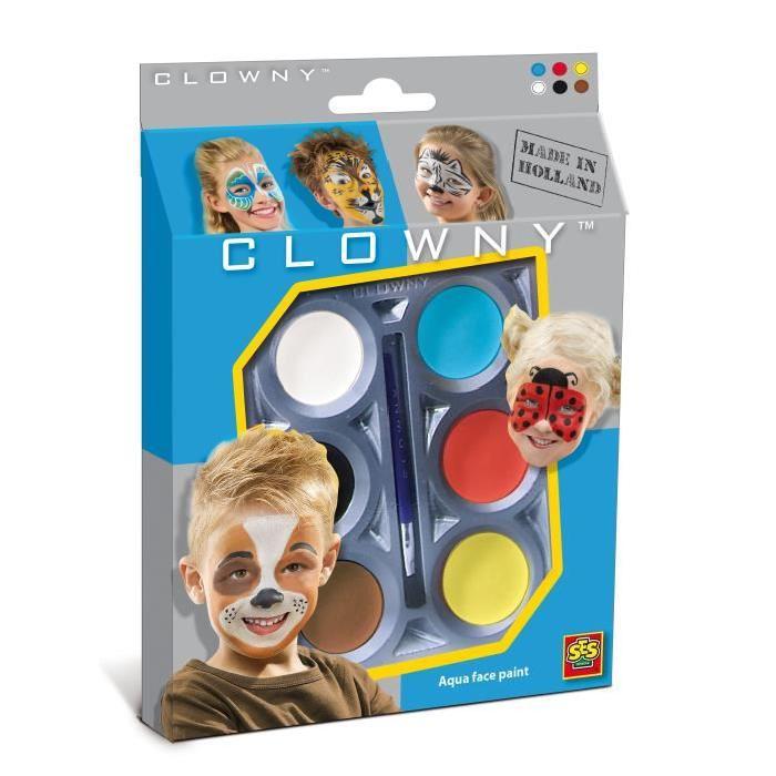 SES CREATIVE AQUA Maquillage  6 couleurs - Animaux