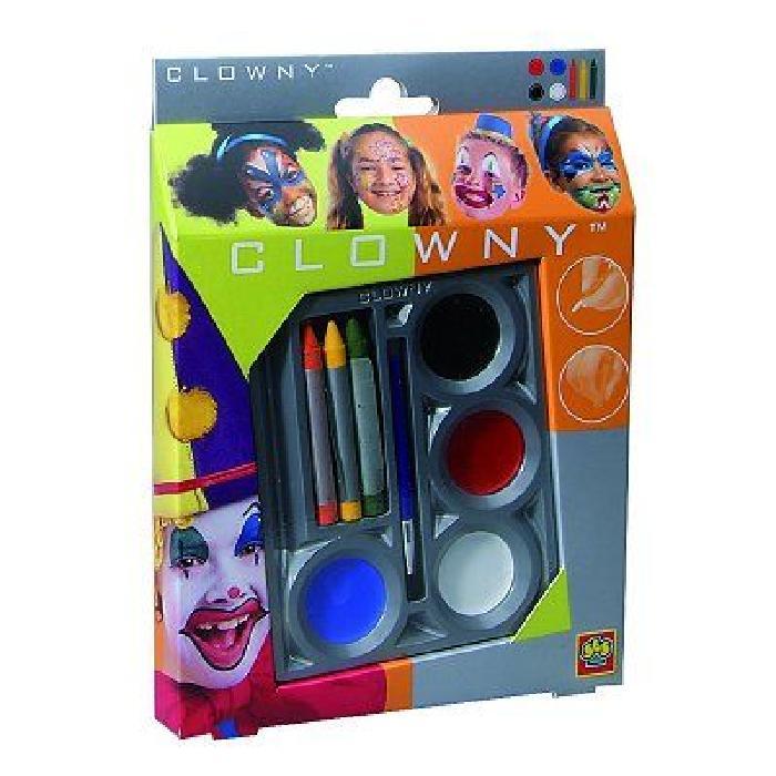SES CREATIVE AQUA Kit de maquillage déguisement clown - 7 couleurs