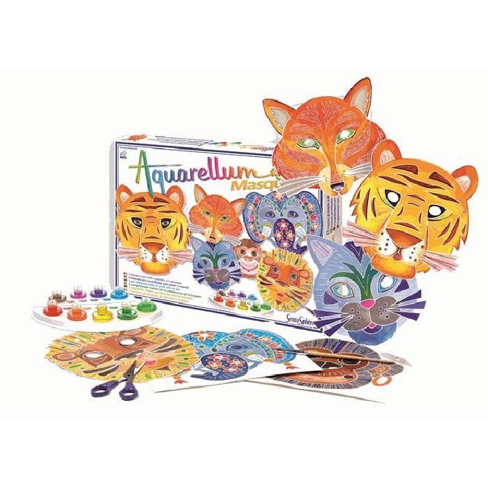 SENTOSPHERE Aquarellum - Masques Animaux