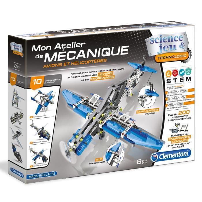 CLEMENTONI Mon Atelier de Mécanique Avions et Hélicopteres