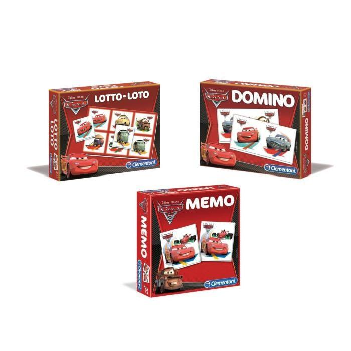 PACK CARS Memo + Loto + Domino