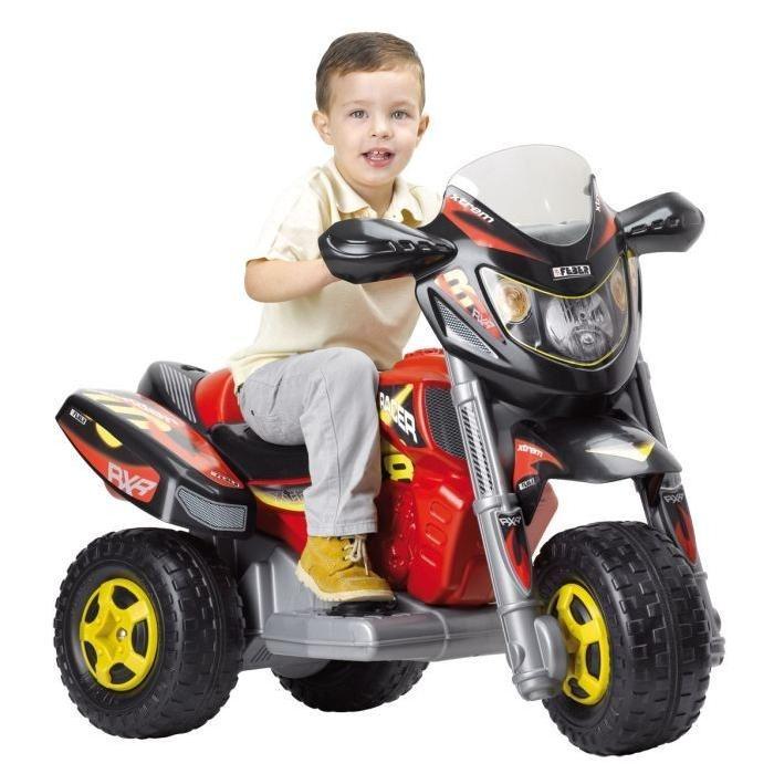 FEBER Moto Electrique Enfant Trimoto Xtrem Red Racer 11 Pouces