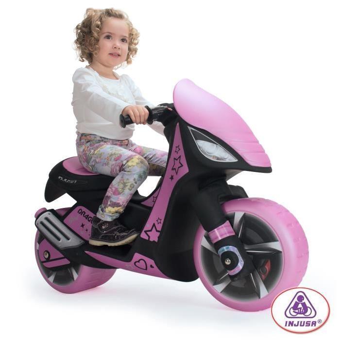 INJUSA Moto Scooter Electrique enfant Fille rose et noir 6 Volts