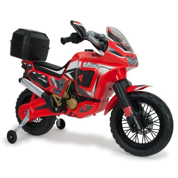 INJUSA Moto électrique enfant Honda Africa Twin 6V Rouge volts