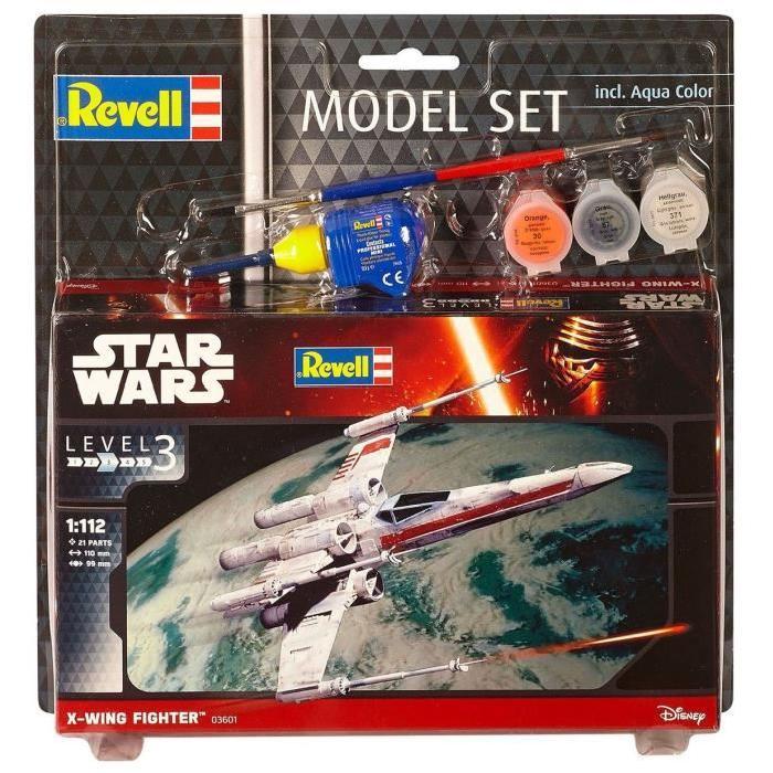 STAR WARS Model Set X-wing Fighter Maquette a Construire, a Coller et a Peindre, Avec Accessoires